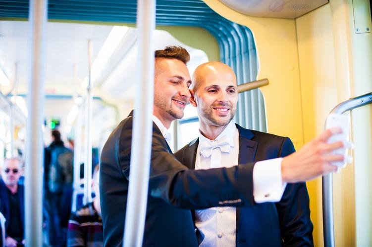 Selfie dans le tram Nantais